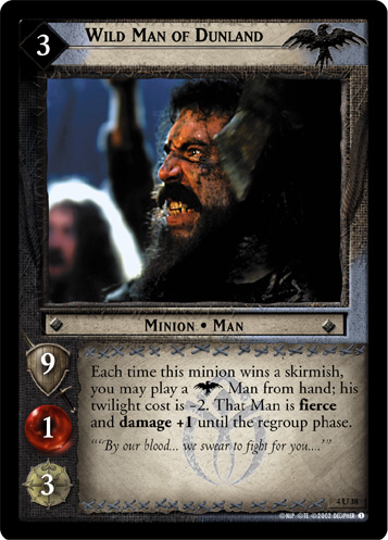 Wild Man of Dunland (4U38) Card Image