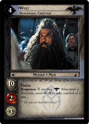 Wulf, Dunlending Chieftain (4R40) Card Image