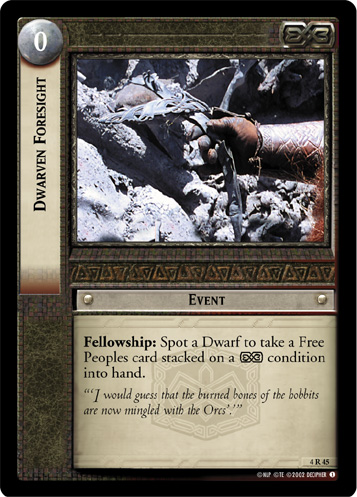 Dwarven Foresight (4R45) Card Image