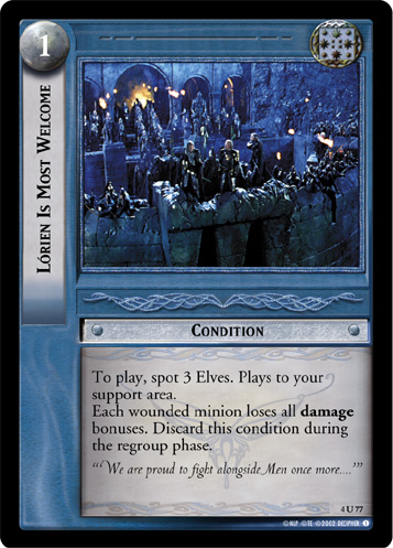 Lorien Is Most Welcome (4U77) Card Image