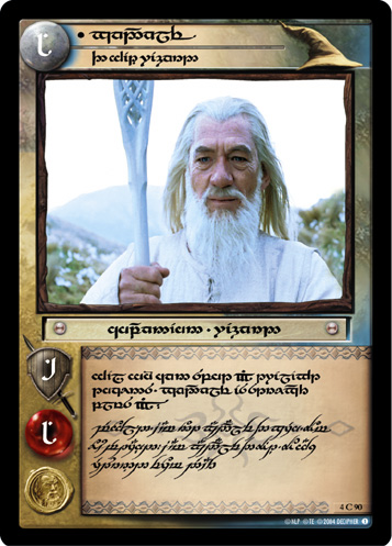 Gandalf, The White Wizard (T) (4C90T) Card Image