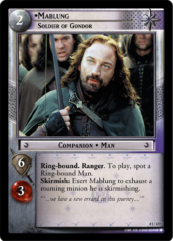 Mablung, Soldier of Gondor (4U127) Card Image