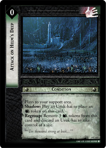 Attack on Helm's Deep (4C137) Card Image