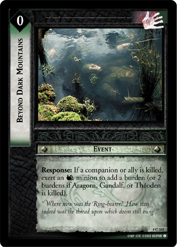 Beyond Dark Mountains (4C141) Card Image