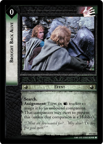 Brought Back Alive (4U143) Card Image