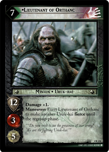 Lieutenant of Orthanc (4R158) Card Image