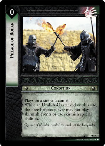 Pillage of Rohan (4R167) Card Image