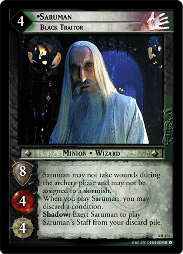 Saruman, Black Traitor (4R173) Card Image