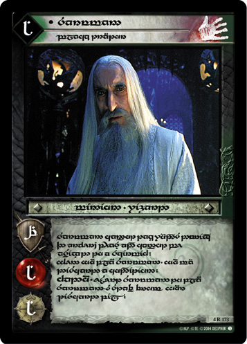 Saruman, Black Traitor (T) (4R173T) Card Image