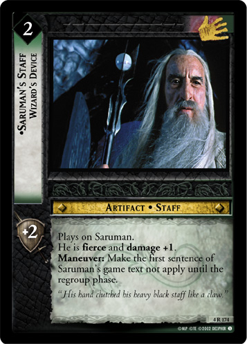 Saruman's Staff, Wizard's Device (4R174) Card Image
