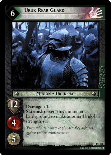Uruk Rear Guard (4C191) Card Image