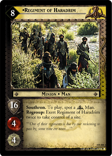 Regiment of Haradrim (4R244) Card Image