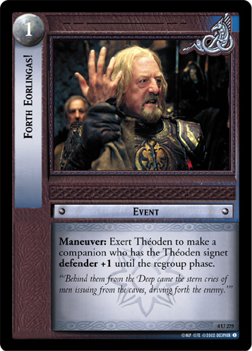 Forth Eorlingas! (4U275) Card Image