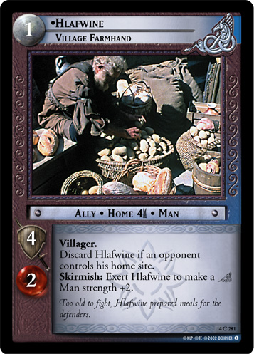Hlafwine, Village Farmhand (4C281) Card Image
