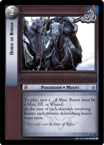 Horse of Rohan (4C283) Card Image