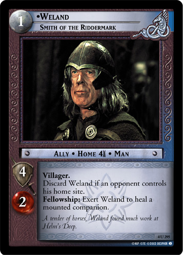 Weland, Smith of the Riddermark (4U295) Card Image