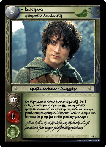 Frodo, Courteous Halfling (T) (4R301T) Card Image