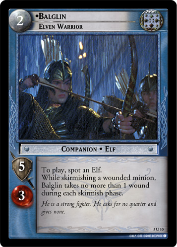 Balglin, Elven Warrior (5U10) Card Image