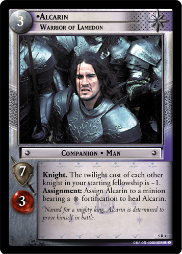 Alcarin, Warrior of Lamedon (5R31) Card Image
