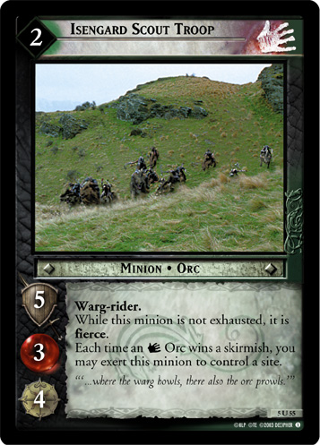 Isengard Scout Troop (5U55) Card Image