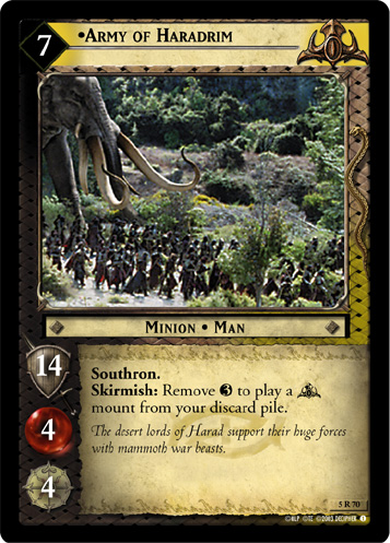 Army of Haradrim (5R70) Card Image