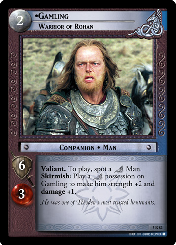 Gamling, Warrior of Rohan (5R82) Card Image