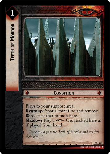 Teeth of Mordor (5U110) Card Image