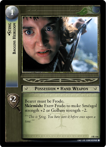 Sting, Baggins Heirloom (5R116) Card Image