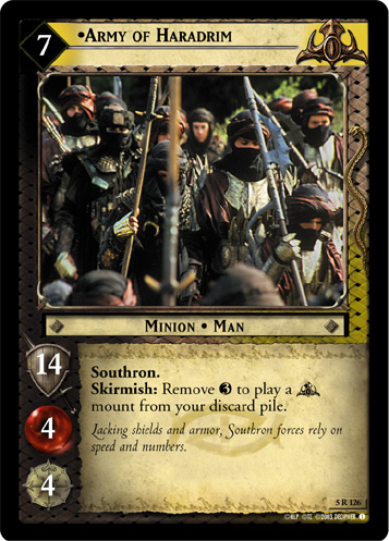 Army of Haradrim (AI) (5R126) Card Image