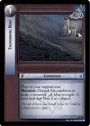 Thundering Host (AI) (5R128) Card Image