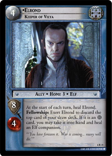 Elrond, Keeper of Vilya (6R15) Card Image