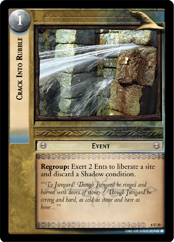 Crack Into Rubble (6U25) Card Image