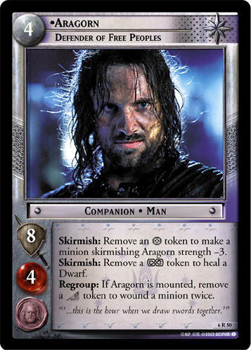 Aragorn, Defender of Free Peoples (6R50) Card Image