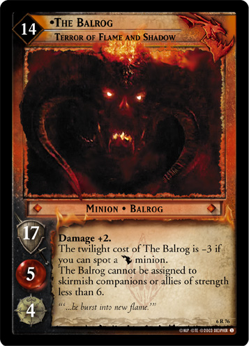 The Balrog, Terror of Flame and Shadow (6R76) Card Image
