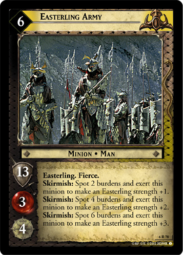 Easterling Army (6R78) Card Image