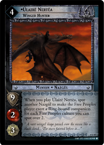 Ulaire Nertea, Winged Hunter (6U87) Card Image