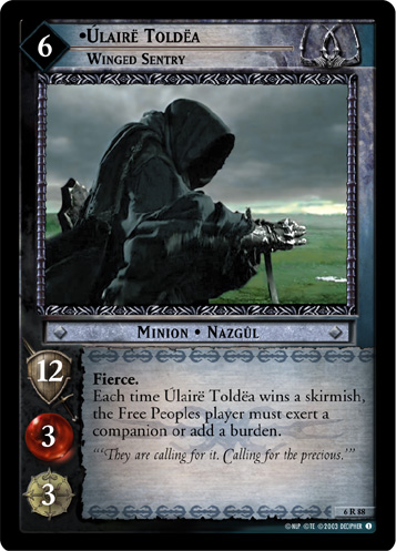 Ulaire Toldea, Winged Sentry (6R88) Card Image