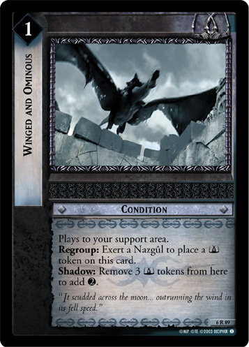 Winged and Ominous (6R89) Card Image