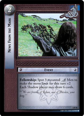 News From the Mark (6R96) Card Image
