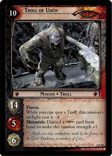 Troll of Udun (6R106) Card Image