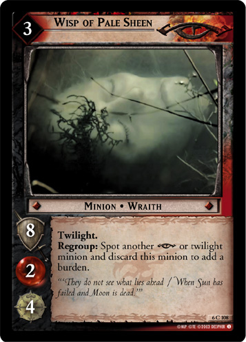 Wisp of Pale Sheen (6C108) Card Image