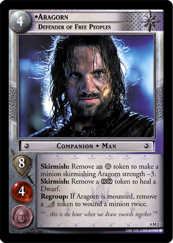 Aragorn, Defender of Free Peoples (M) (6M2) Card Image