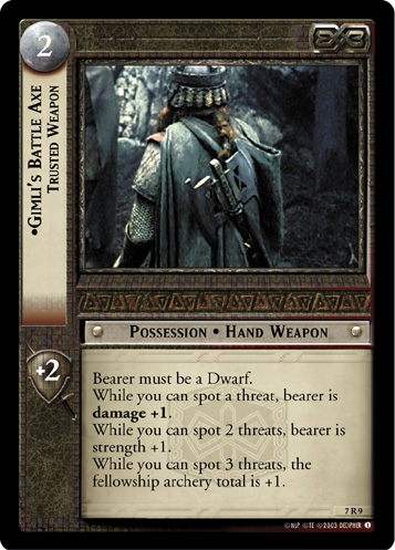 Gimli's Battle Axe, Trusted Weapon (7R9) Card Image