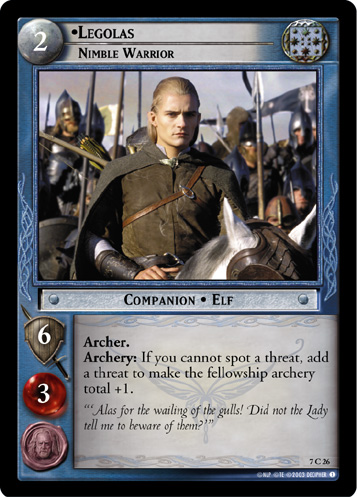 Legolas, Nimble Warrior (7C26) Card Image