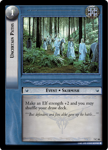 Uncertain Paths (7C30) Card Image
