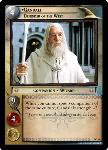Gandalf, Defender of the West (7C36) Card Image