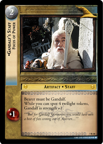 Gandalf's Staff, Focus of Power (7R38) Card Image