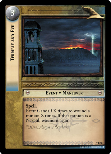 Terrible and Evil (7R50) Card Image
