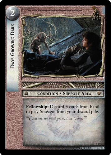 Days Growing Dark (7U55) Card Image