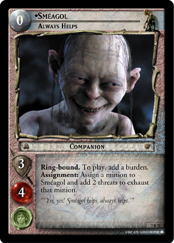 Smeagol, Always Helps (7R71) Card Image